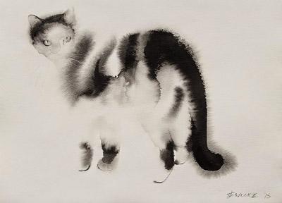 Endre Penovac. Акварельные коты